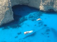 The Blue Caves at Zakynthos