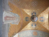 Beautiful freso's on the ceilings of the Cathedral